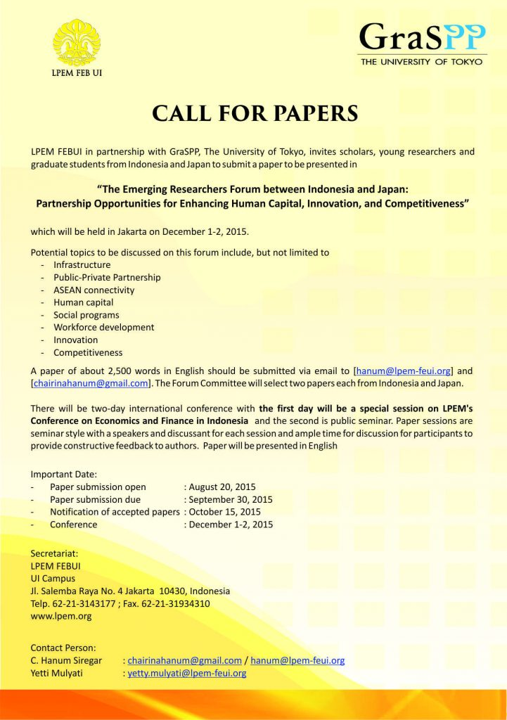 call for research papers in economics
