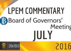 LPEM COMMENTARY BI BOARD OF GOVERNORS' MEETING JULY 2016