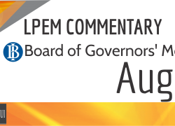 LPEM COMMENTARY BI BOARD OF GOVERNORS' MEETING AUGUST 2016